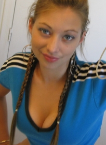 Cute Teen In Braids Takes Selfshot Pictures Of Herself For Her Boyfriend - Picture 4