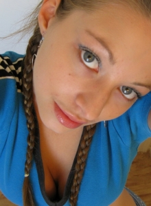 Cute Teen In Braids Takes Selfshot Pictures Of Herself For Her Boyfriend - Picture 8