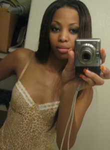Sexy Black Girlfriend Perky Tits Pussy Nude Selfshot Mirror Pictures - Picture 1