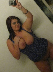Chubby Girlfriend Takes Selfshot Pictures Of Her Really Huge Plump Tits - Picture 10